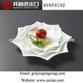 Branco hotel barato uso louça, octogonal de cerâmica placas de jantar
