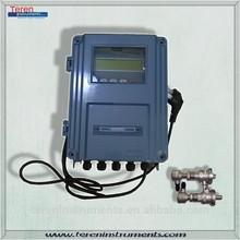Insertion transducer water flow controller Fixed Ultrasonic liquid flow sensor