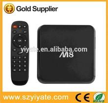 ヒット商品2014年android4.4m8amlogics8022gbram8gbグーグル熱いビデオスマートtvボックス