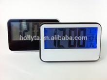 Digital Alarm Clock Light Control Snooze Backlight Time Calendar Thermometer NEW