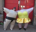 Sumo inflável traje / inflável traje sumo wrestler