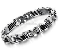Black carbon fiber good health bracelet