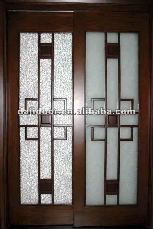 Vidrio de madera maciza puertas correderas para ba o dj for Vidrios para puertas de madera