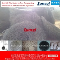 Suncel Transplant Root ball netting/Wire basket for tree Transplanting only factory in Hebei