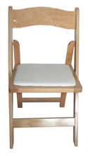 natural banquet pure beech wood folding chair for party event