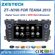 Car dvd gps for Nissan Teana 2013 factory navigation system double din ZESTECH oem car radio player