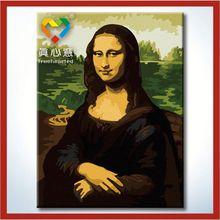 Mona Lisa portrait painting beautiful woman back nude oil painting