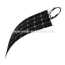 High efficiency sunpower 100W flexible solar panel china for charging 12V batter