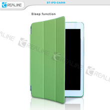 for ipad 6 case, high quality folio leather cover case for ipad 6/air 2