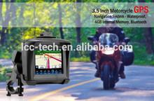 Waterproof Motorcycle Bike 3.5 Inch Outdoor GPS Navigation System - 4GB, BT MP3,MP4