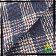 Fashion tartan woolen coat fabric elegant suit fabric tweed fabric for high fashion womens clothing