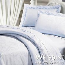 grey Guangzhou satin fabric rich bedding set