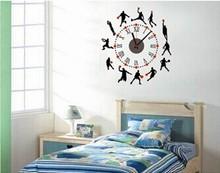 Wall sticker clock of Basketball Man