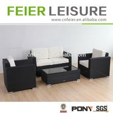 classic mail-order luxury outdoor garden single sofa piece rattan black / grey left end