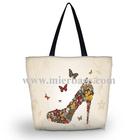 women's canvas soft tote bag,shoulder shopping bags pack,lady handbag