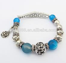 best selling European and American fashion fish shaped blue elastic bracelet