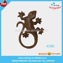 Hot selling fashion design geckos metal art