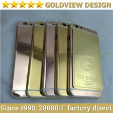 Luxury 100% real 24ct gold plated housings for iphone 6 rose gold , yellow gold , platium plated for apple 6 plus