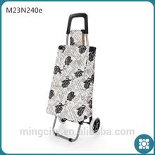 Top Popular Black Rose Stripe Travel Traolley Cart, Beach Bag, Shopping Trolley Bag