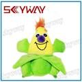 Sorriso dos desenhos animados do luxuoso brinquedo milho/oem/odm brinquedo de estimação