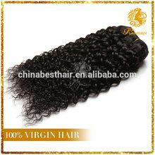unprocess 100% virgin brazilian human hair extensions deep indian curly