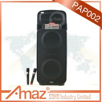 dual 15 inch wireless portable pa system amplifier