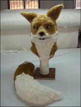 Halloween Costume Theater Prop High quality Novelty fur Mr Fox LED Head Animals Mask