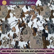 100% Polyester printed big flower silk wholesale micro velvet fabric