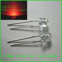 India price high quality Epistar/Cree/SANAN chip 4.8mm straw hat led 0.03w, 0.05w, 0.06w, 0.25w, 0.5w
