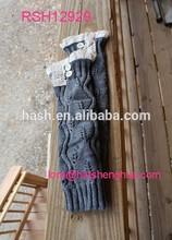 (RSH12929) Knit Boot Cuff, Lace Leg Warmer