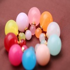 2015fashion model charming design double pearl ball pearl earring