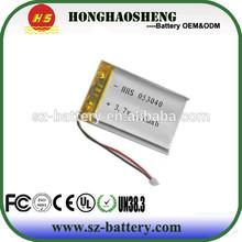 cheap price hot sale cheap price long life 053040 3.7v 550 mah li-ion battery 3.7v 503040