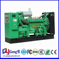 High efficiency CHP gas power generator with turbine