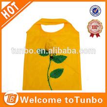 190T polyester Fashion rose flower shopping bag