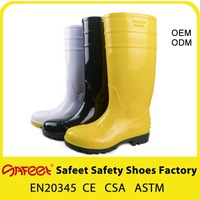 Factory Cheap Price Black White Yellow PVC Natural Rubber Boots SA-9304