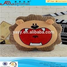 creative lion head animal plush pillow