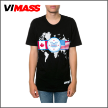 Custom cheap printing men's t-shirt manufacturer,wholesale round neck t-shirt for men