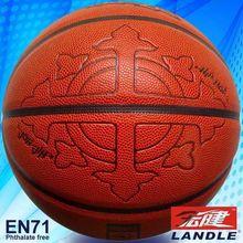 China made pu synthetic colorized basketball
