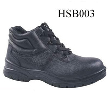 genuine leather hit resistant steel toe &midsole factory industrial safety PPE shoes
