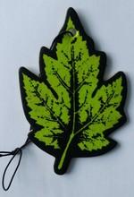 leaf shape paper car air freshener with different fragrance