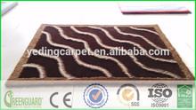 Brown stripe rib shag rugs
