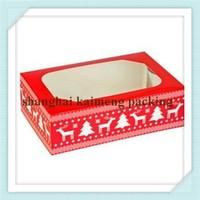 China supply uv printed decorative christmas cake boxes