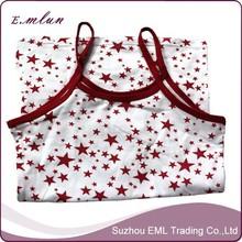 Star imprimé jeunes filles spandex court camisole tops