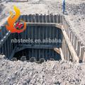 Larsen de tablestacas/de tablestacas de acero/hoja de hormigón de la pila