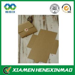 Brown kraft paper envelope with custom design for hot selling