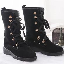 Wholesale Popular black winter womans sheepskin boots