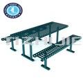 antiruggine resistente esterno mobili decorativi utilizzato birra in acciaio inox tavolo con panca