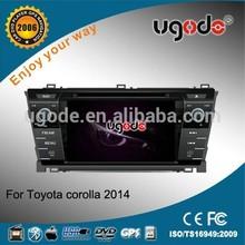 Newly in dash car dvd player toyota corolla with GPS radio bluetooth IPOD
