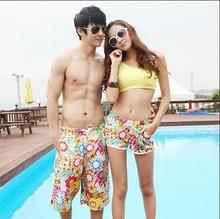 StanCaleb custom cheap lovers printing swimming shorts stock boardshort couple surf shorts matching beach shorts