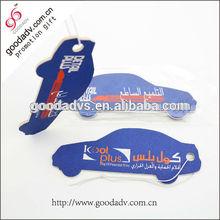Cheap wholesale Car shape paper car air freshener / car air freshener